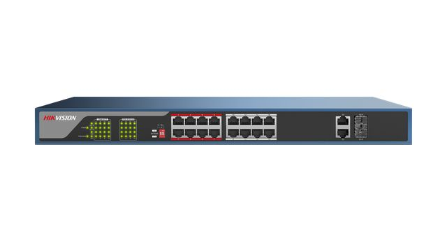 Hikvision 16 Port POE+ Switch DS-3E0318P-E Image | Metro Solutions