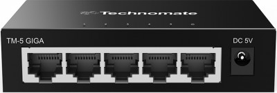 Technomate 5 Port Gigabit Network switch Image | Metro Solutions