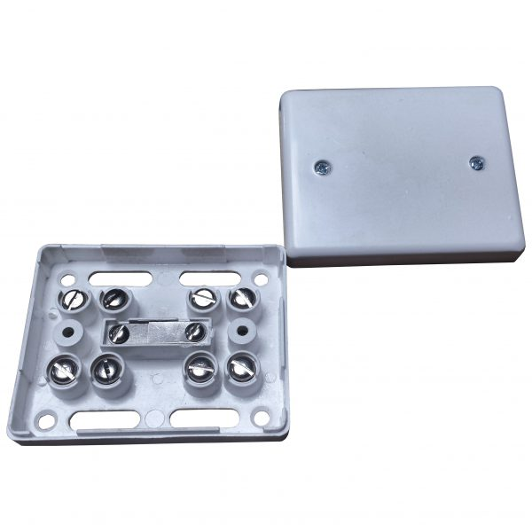 Alarm Junction Box 10 Screw White J80 Image | Metro Solutions