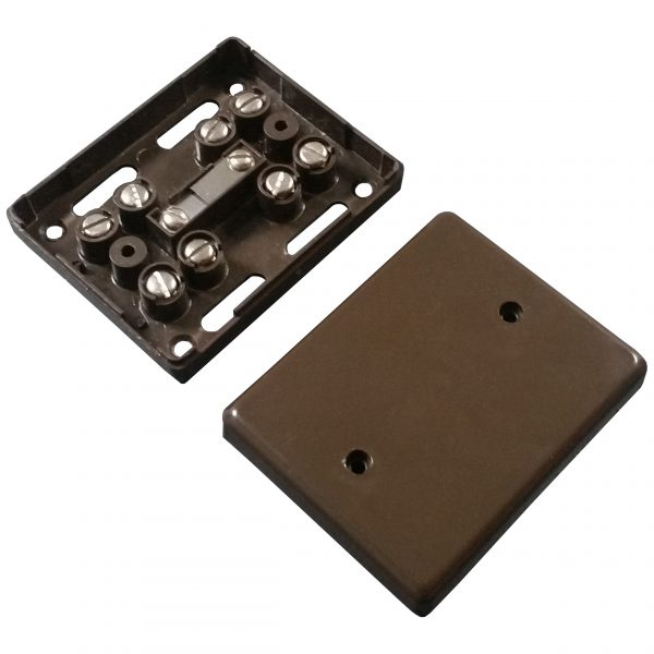 Alarm Junction Box 10 Screw Brown J80B Image | Metro Solutions