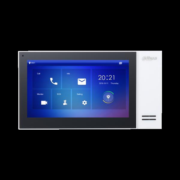 Dahua IP Intercom 7″ Monitor White POE Image   Metro Solutions