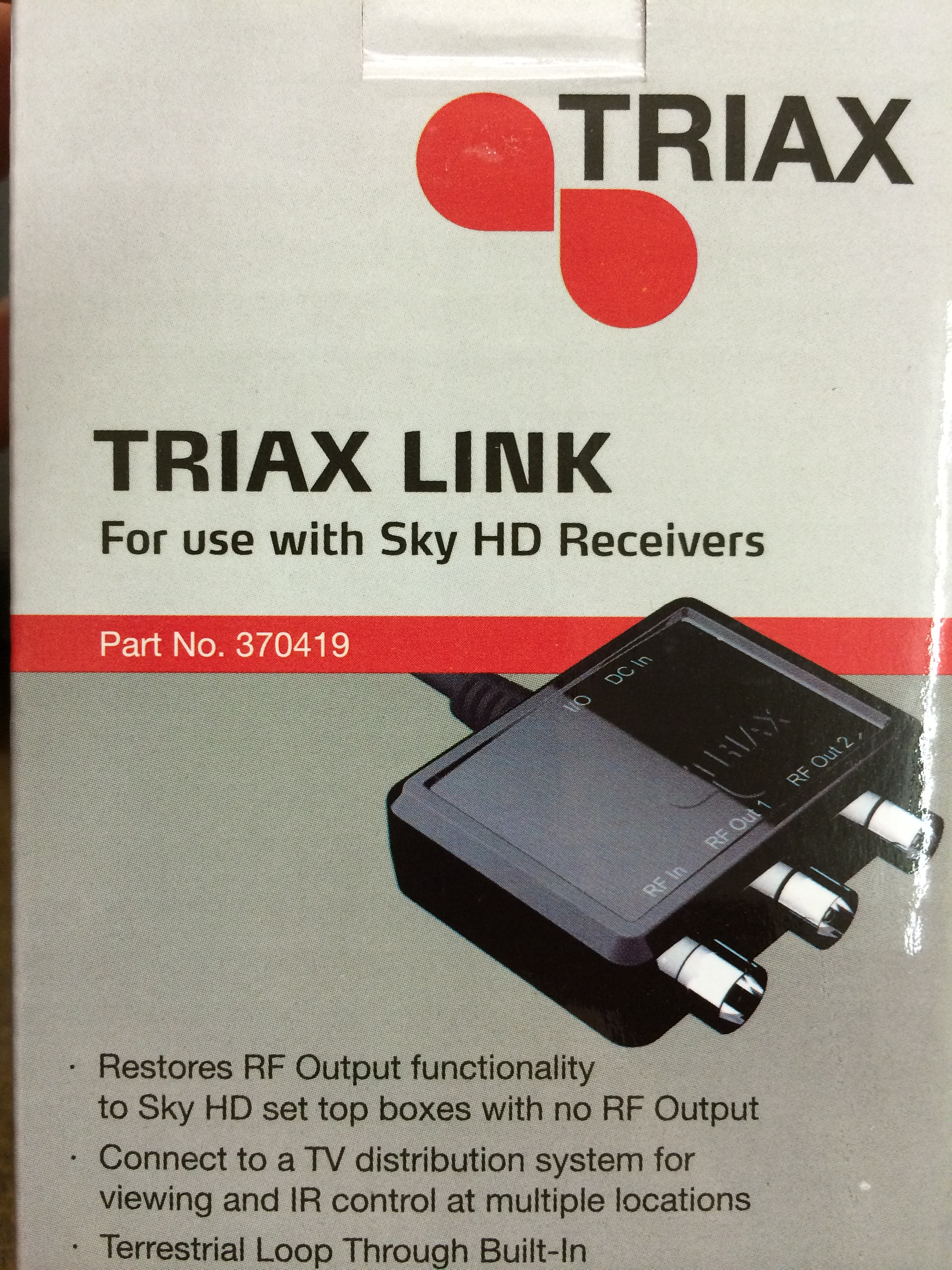 Triax i/o Link (For use with SKY+ HD Receivers)