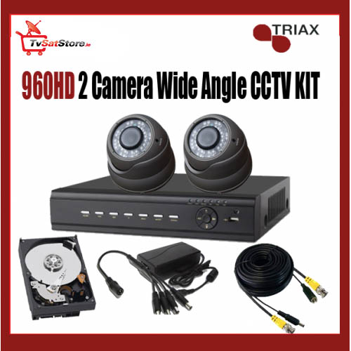 960HD 2 Camera Wide Angle CCTV Kit
