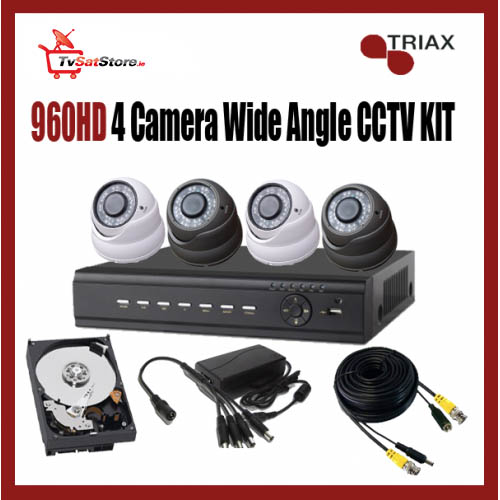 960HD 4 Camera Wide Angle CCTV Kit